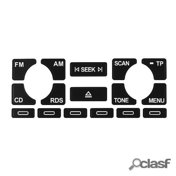 Auto radio adesivi per decalcomanie per riparazione pulsanti indossati stereo per audi a4 b6 b7 a6 a2 a3 8l / p