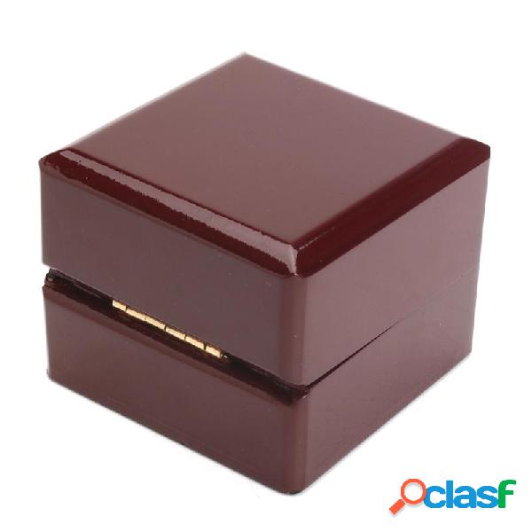 Regalo di gioielli in legno vintage raccoglie custodia ad anelli scatola custodia organizzatore