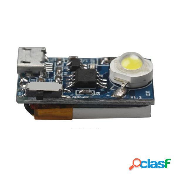 Rc 5g 3w night strobe flash luci incorporate batteria w / magia cravatta diretta per dji spark rc drone