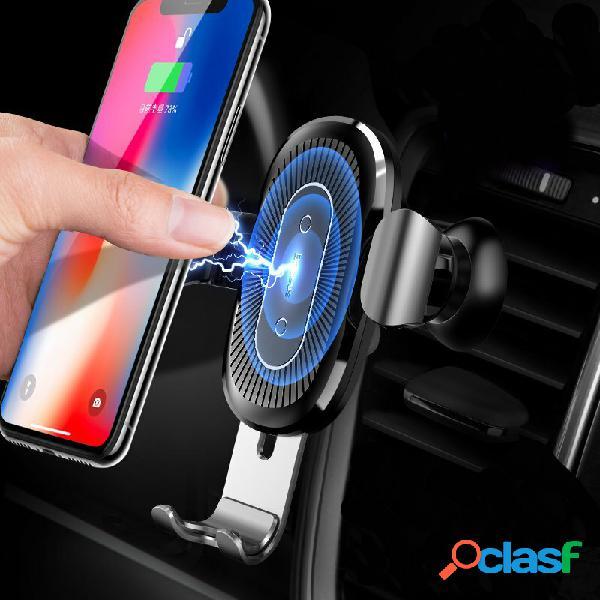 Baseus supporto per telefono da condotto di ventilazione 10w qi wireless carica rapida senza fili da auto blocco auto