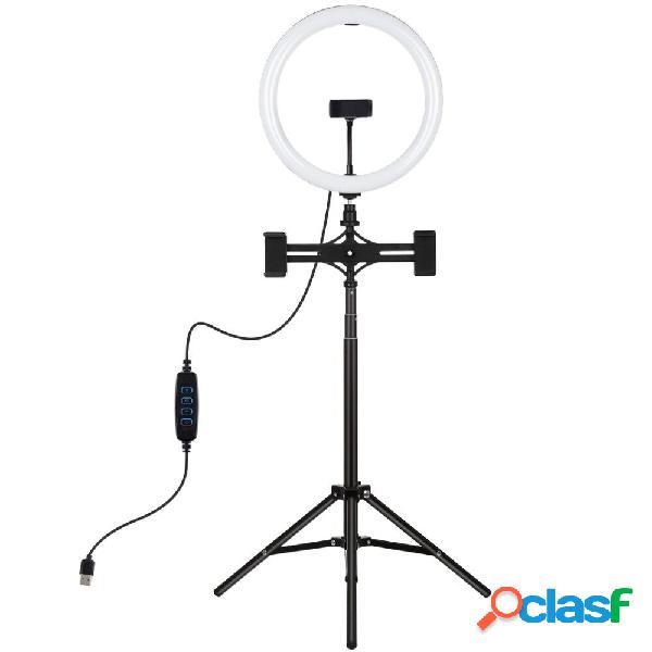 Puluz pkt3066b 10.2 pollici dimmerabile led selfie video ring light con treppiede pu457b per youtube tik tok live stream