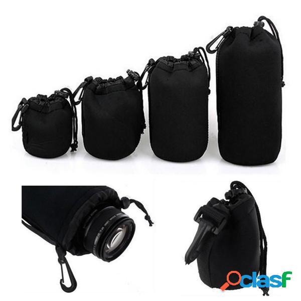 4 pezzi in morbido neoprene sml xl sacchetto del sacchetto lente per canon nikon sony fotocamera pentax dslr