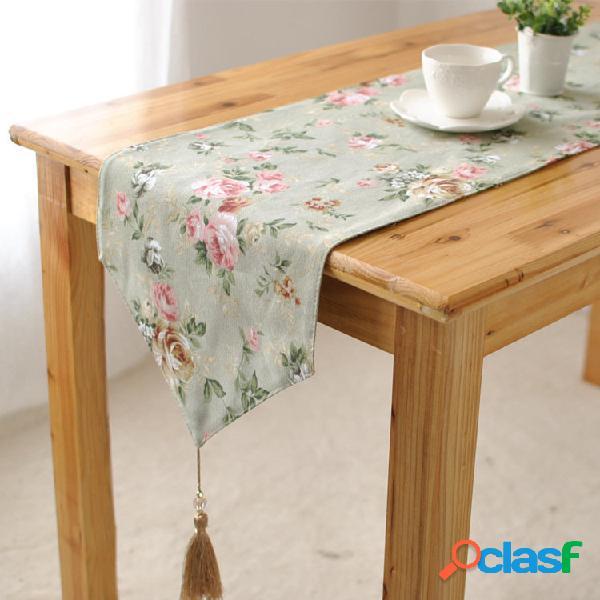 Elegante in cotone rosa biancheria da tavola corridore scrivania copertura calore ciotola isolamento mat pad articoli pe