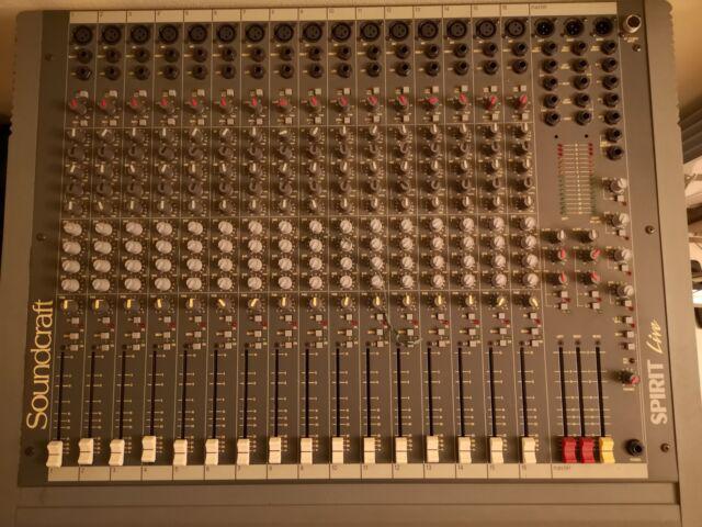 Mixer soundcraft spirit live 16 canali