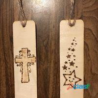 Segnalibri in legno pirografati