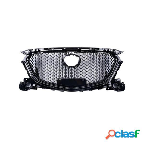 Griglia protezione paraurti anteriore protezione per griglia superiore abs plastic car styling per mazda 3 axela 2017 20