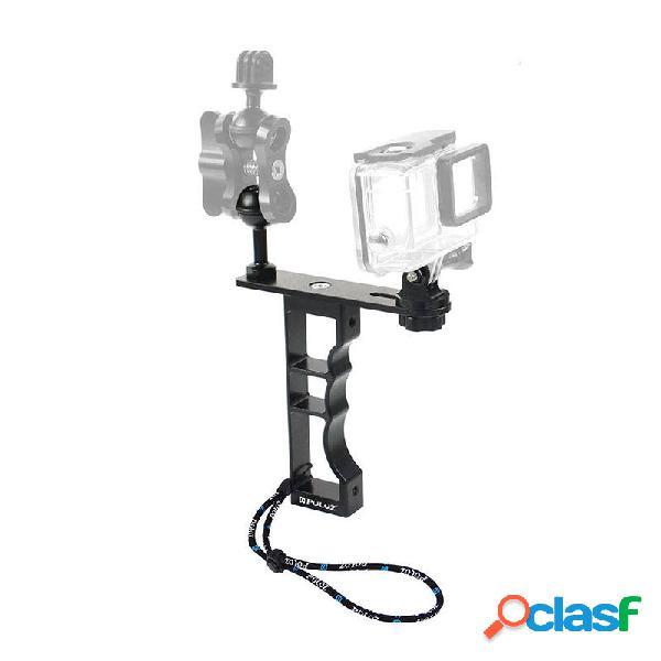 Puluz pu246b supporto per supporto stabilizzatore per video luce subacquea per gopro hero dji osmo pocket action sports