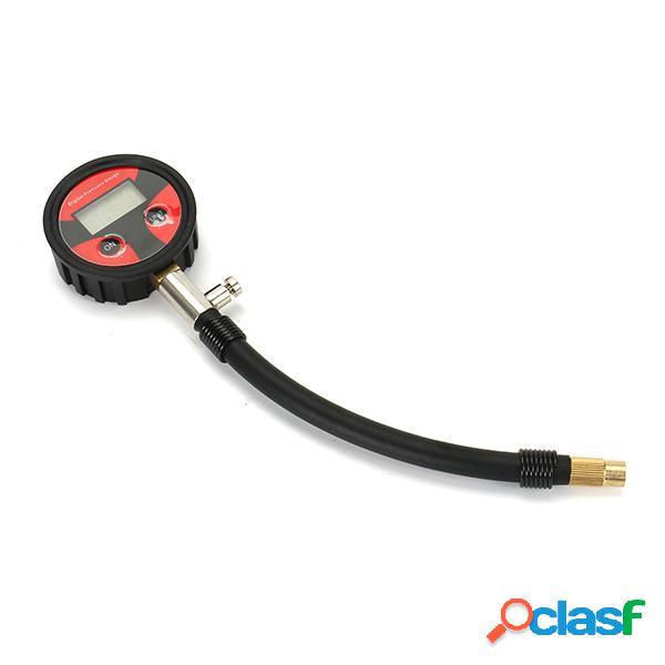 200 psi moto motorino manometro digitale della pressione dei pneumatici con funzione di spurgo
