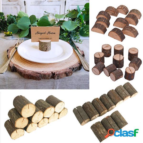 Titolari di carte di legno per le decorazioni della festa nuziale della casa della foto della clip di foto