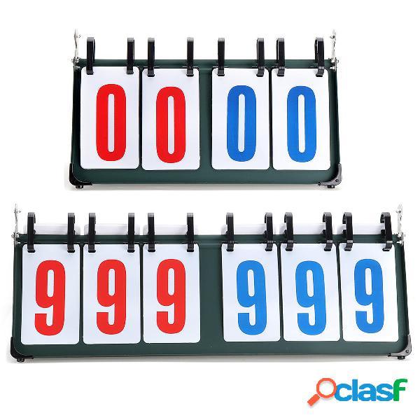 4/6 digit scoreboard separator portable sports match gioco di pallacanestro gioco judge flip score board
