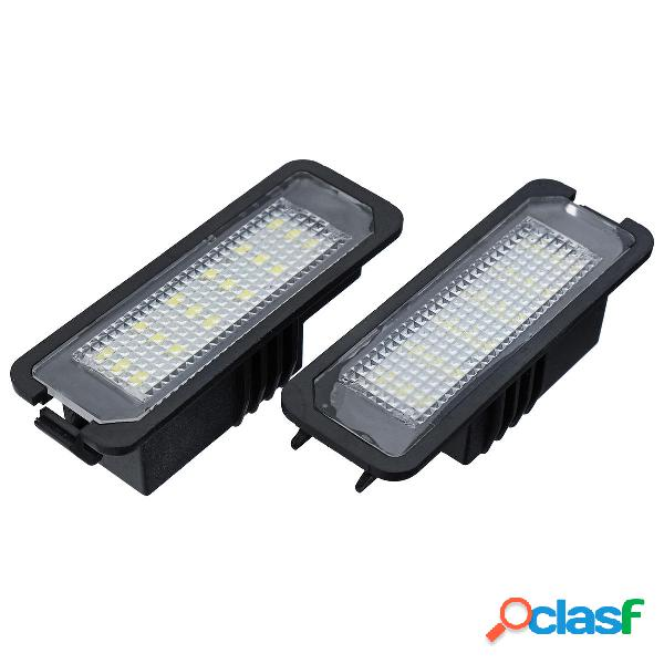 18 led numero di licenza piatto luci bianco can-bus errore coppia libera per vw golf eos passat polo cc