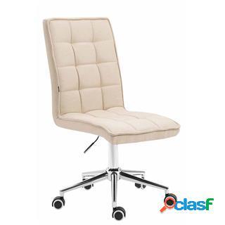 Sedia per ufficio basir, spessa imbottitura, in tessuto crema