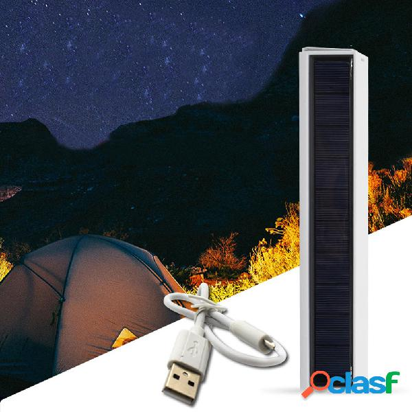 Solare power 30 led magnete impermeabile ricaricabile usb campeggio light 4 modalità luce di emergenza portatile