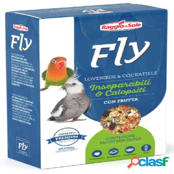Fly hooby lovebrids & cockatiels inseparabili calopsiti con frutta...