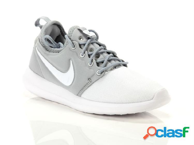 Nike roshe two gs white metallic silver, 39, 40 grigio