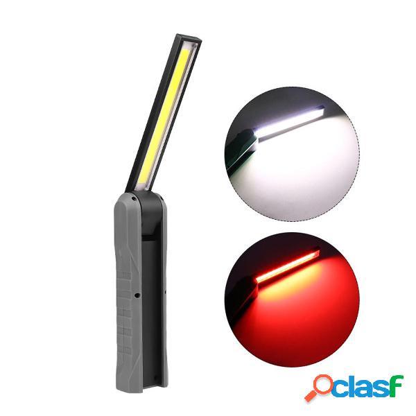 Cob led ispezione della luce di lavoro del meccanico lampada torcia manuale ispezionabile ricaricabile usb