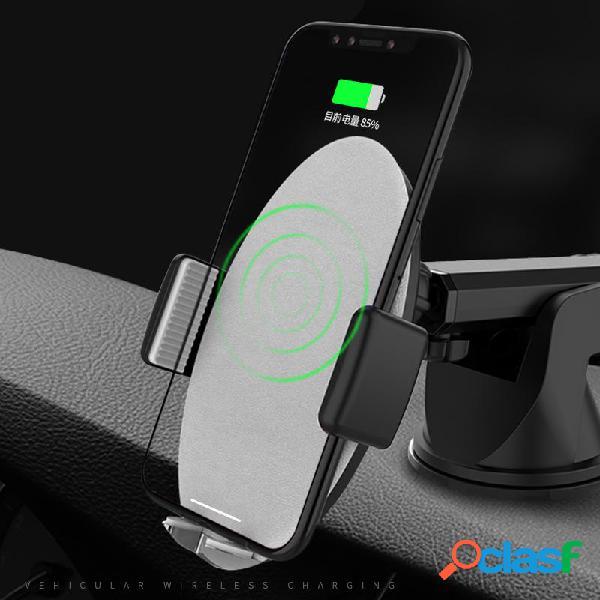 Bakeey ™ 10w qi carica veloce senza fili smart auto serratura supporto per telefono cruscotto dellautomobile per ip