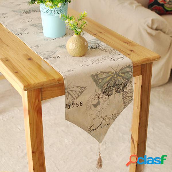Inghilterra biancheria di cotone stile pad stoviglie tappeto runner tovaglia scrivania copertura di calore ciotola di is