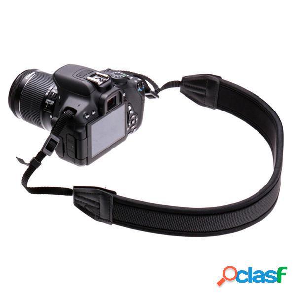Adjusted neoprene cinghia della cinghia nera per Canon Nikon Sony fotocamera pentax dslr