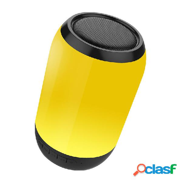 Bakeey Portable Colorful luce a led Altoparlante wireless bluetooth HiFi FM Radio TF Card Dual Bass Subwoofer con microf
