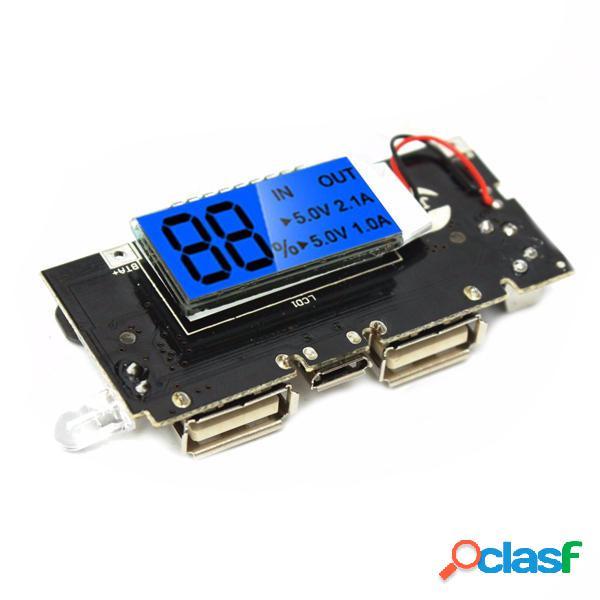 5Pcs Dual USB 5V 1A 2.1A Banca mobile di potere 18650 Battery Charger PCB bordo del modulo