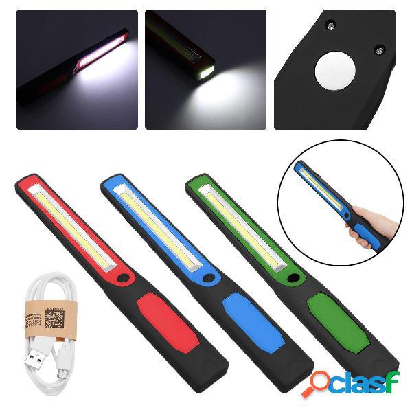 LED Sottile Lampada da lavoro lampada Torcia a LED Torcia magnetica ricaricabile USB lampada