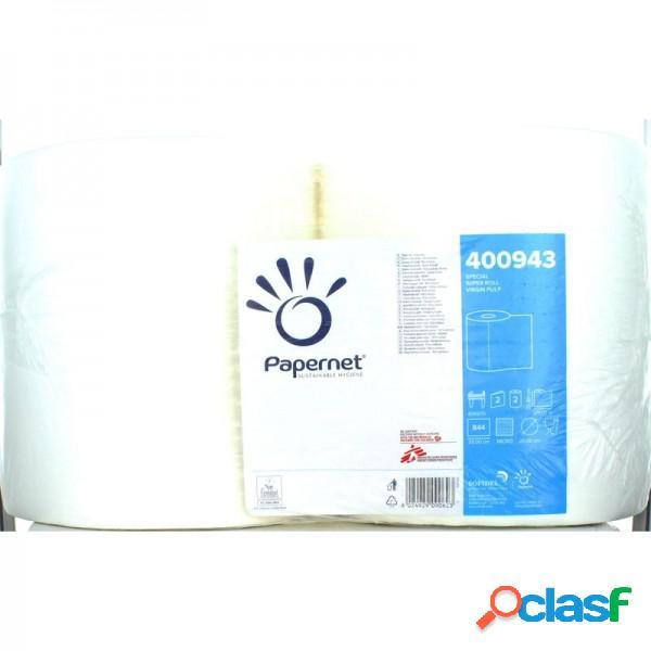Papernet Bobina Carta Asciugatutto Industriale Cartattiva 2 Rotoli 844 Strappi Formato Professionale