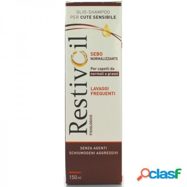 Restivoil Olio-Shampoo Fisiologico Ad Azione Sebonormalizzante Per Uso Frequente Per Capelli Da Normali A Grassi 150 Ml