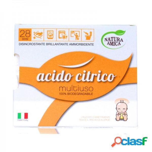 Natura Amica Acido Citrico Multiuso Disincrostante Brillantante Ammorbidente 100% Biodegradabile Ecodetersivo 400 Grammi