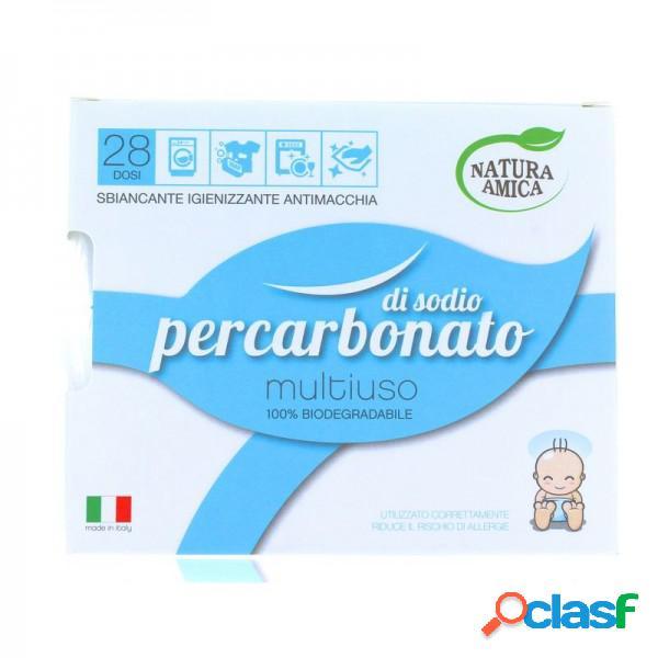 Natura amica percarbonato di sodio multiuso sbiancante igienizzante antimacchia 100% biodegradabile ecodetersivo 400 grammi