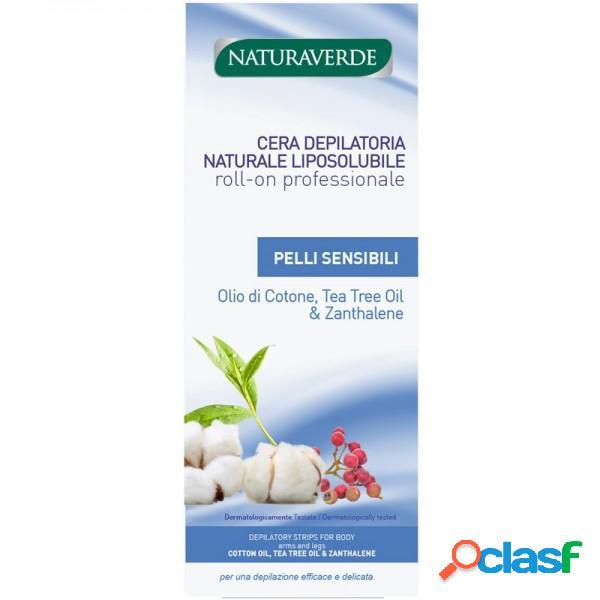 Navuraverde cera depilatoria roll on professionale pelli sensibili olio di cotone, tea tree oil & zanthalene 100 ml