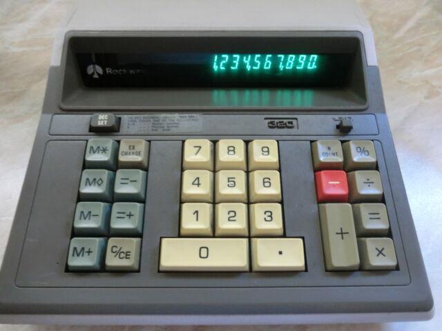 Calcolatrice rockwell 320 vintage