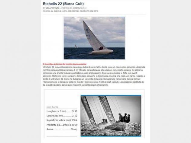 Barca a vela etchell 22 cantiere david anno1978 lunghezza