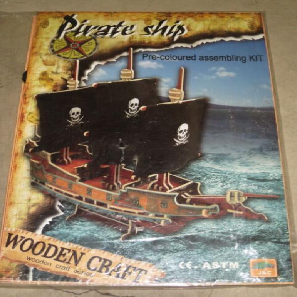 Veliero nave pirati in legno 3d puzzle nuovo