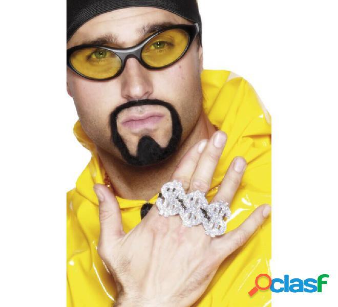 Anello del magnaccia o rapper di tre simboli del dollaro