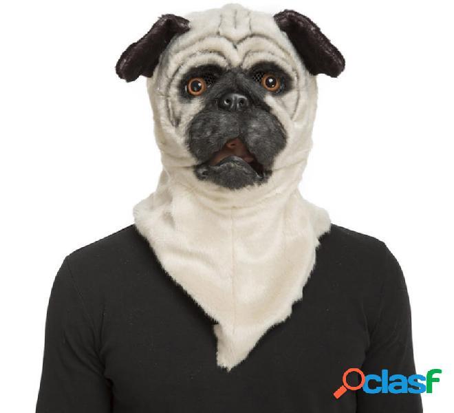 Maschera con mascella mobile di cane carlino