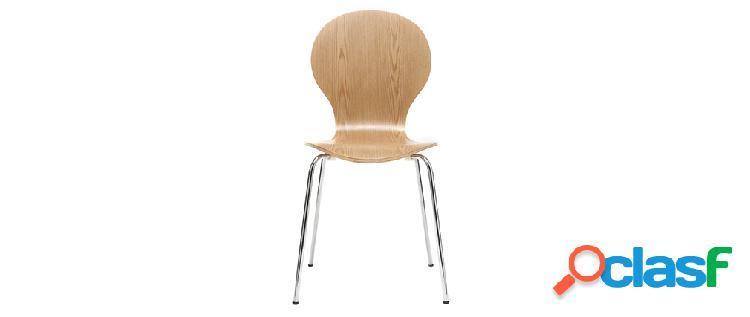 Sedia design in legno chiaro lotto di 2 new abigail