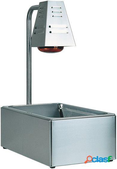 Contenitore gn per condimento e mantenimento fritti con 1 lampada a raggi infrarossi