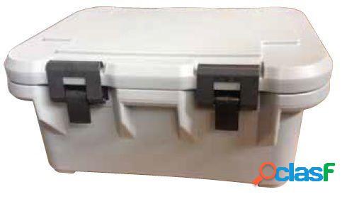 Contenitore isotermico per bacinelle gastronorm gn 1/1 h 200 mm, capacità 22,7 litri - l 635 mm x p 435 mm x h 310 mm