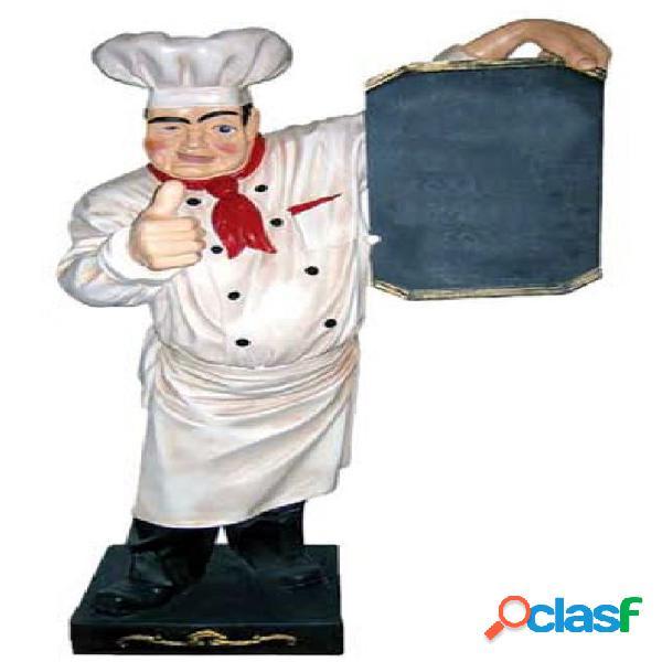 Chef in vetroresina con lavagnetta riscrivibile - altezza 180 cm