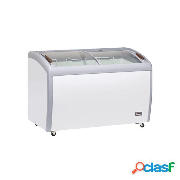 Congelatore a pozzetto refrigerazione statica, 400 litri e temperatura - 18°c/-22°c