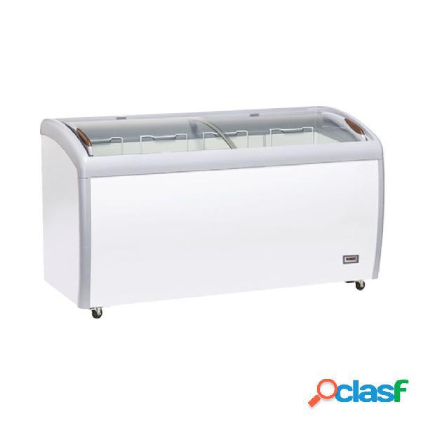 Congelatore a pozzetto refrigerazione statica, 500 litri e temperatura - 18°c/-22°c