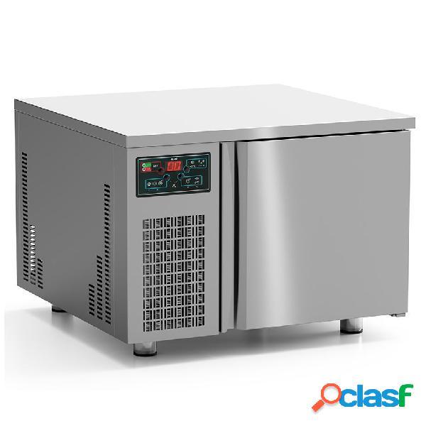 Abbattitore di temperatura digitale in acciaio inox - predisposto per 3 teglie/griglie gn 2/3