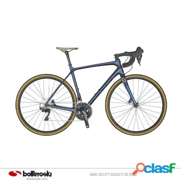 Bici da strada scott addict 20 disc (colore: dark blue, taglia: m/54)