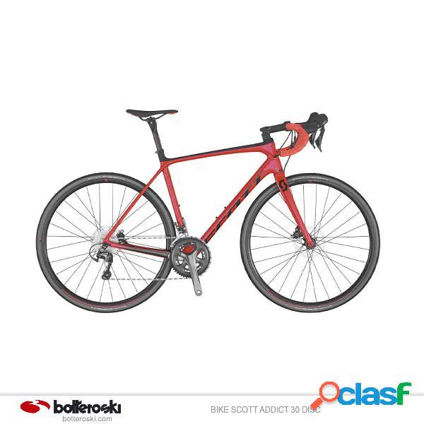 Bici da strada scott addict 30 disc (colore: rosso nero, taglia: s/52)