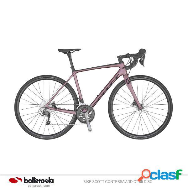 Bici da strada scott contessa addict 35 disc (colore: rosa, taglia: xs/49)
