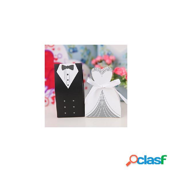 20 scatoline portaconfetti matrimonio 10 sposo 10 sposa
