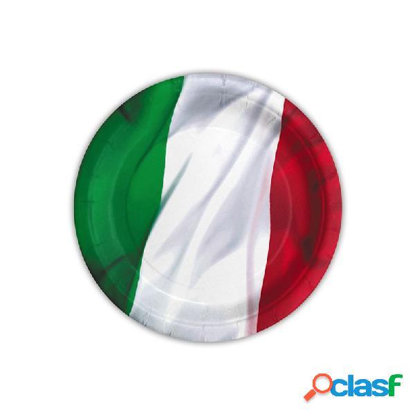 Piatti bandiera italiana - tricolore 10 pz
