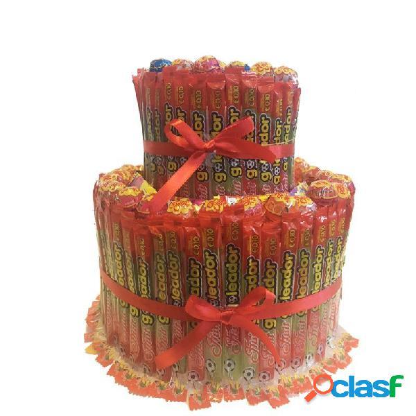 Torta di caramelle goleador e chupa chups - kit fai da te