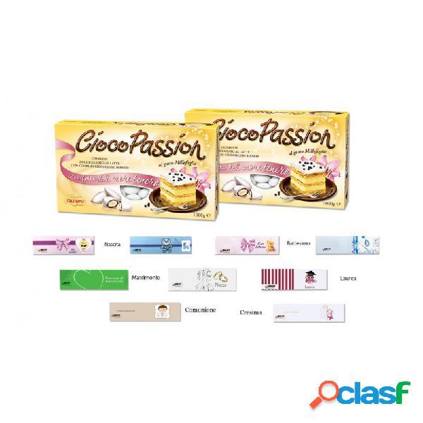 Crispo ciocopassion confetti millefoglie 2 kg + 100 bigliettini bomboniera